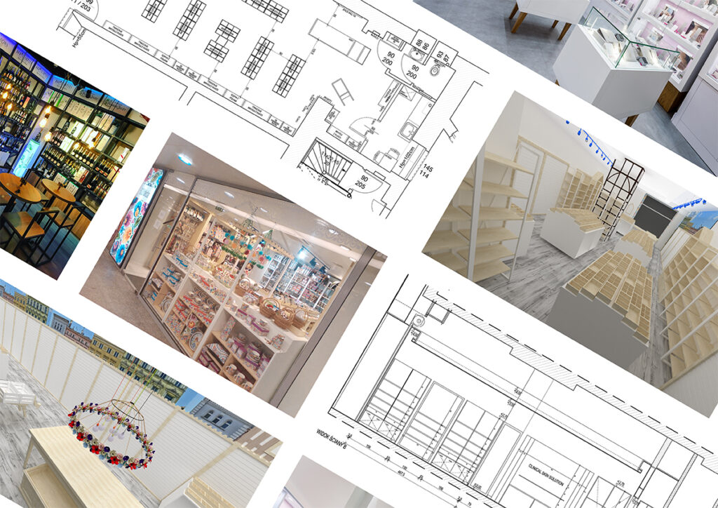 architektura wnętrz sklepy